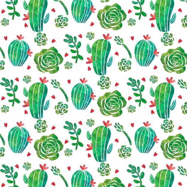 Concetto di raccolta del modello di cactus Vettore Premium