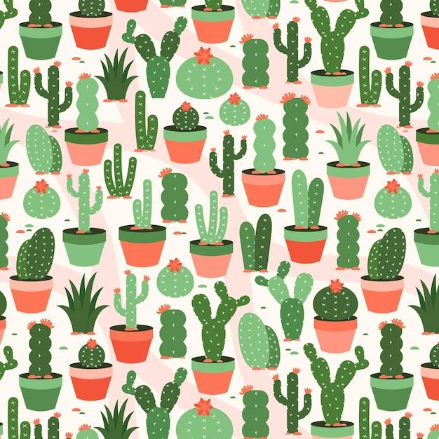 Pacchetto modello cactus Vettore Premium
