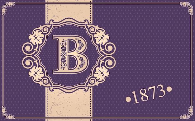 Illustrazione calligrafica b. Vettore Premium
