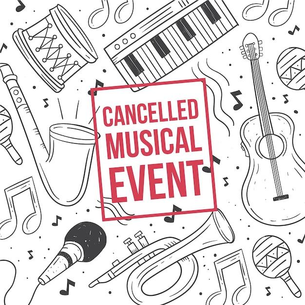 Eventi musicali annullati Vettore Premium