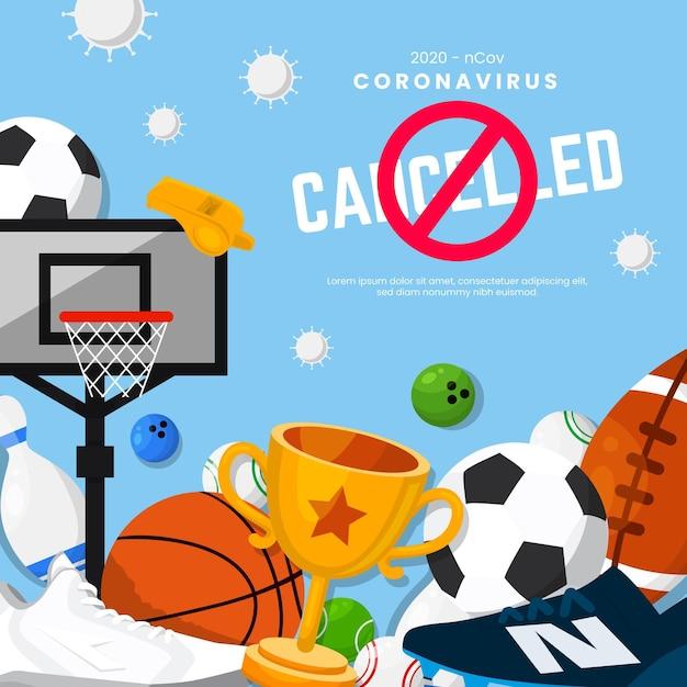 Sfondo eventi sportivi annullato Vettore Premium