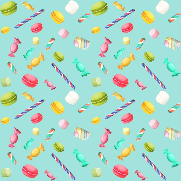 Candy senza saldatura pattern Vettore Premium