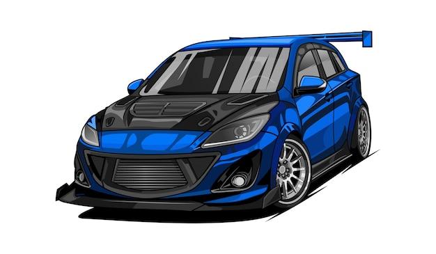 Auto da corsa sportiva Vettore Premium