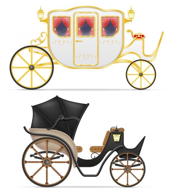 Trasporto per il trasporto di persone illustrazione vettoriale Vettore Premium