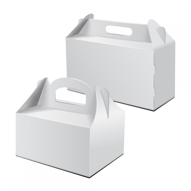 Trasportare l'imballaggio. set di vector mockup. Vettore Premium