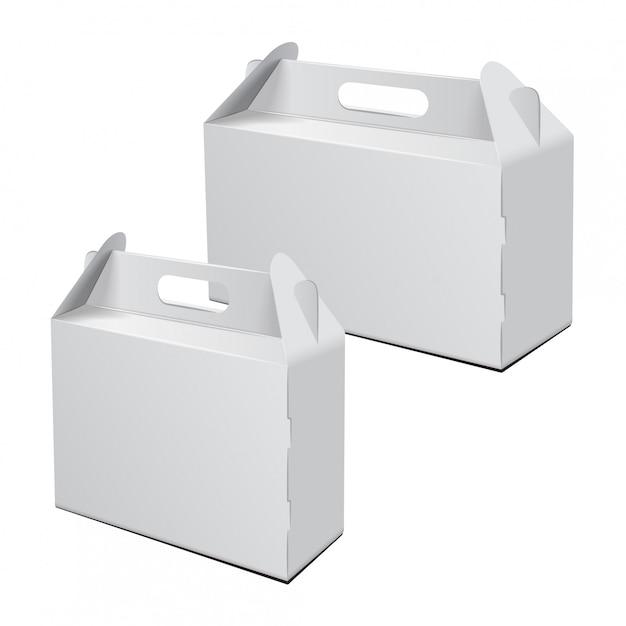 Trasportare l'imballaggio. mockup vettoriale. Vettore Premium