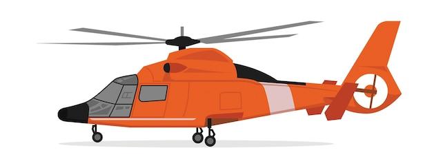 Cartone animato dell'elicottero Vettore Premium