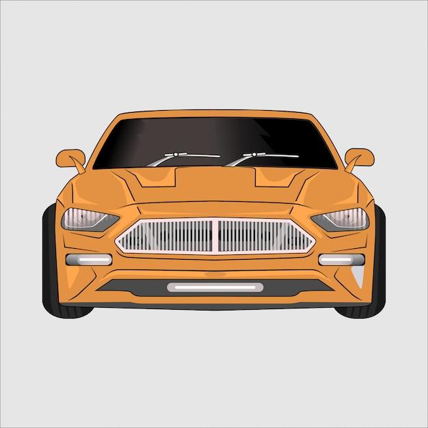 Fumetto illustrazione super car ferary, Vettore Premium