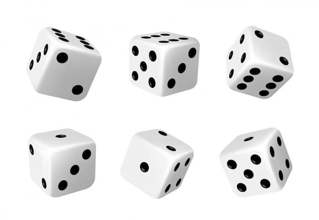 Il casinò taglia, muori per i giochi da tavolo realistici Vettore Premium