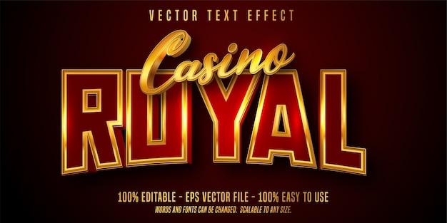 Effetto di testo modificabile casino royal Vettore Premium