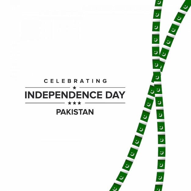 Festeggia il giorno dell'indipendenza pakistan Vettore Premium