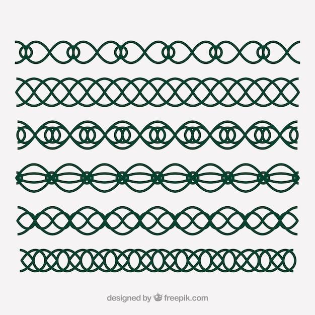 Celtic & elfico decorazioni Vettore Premium