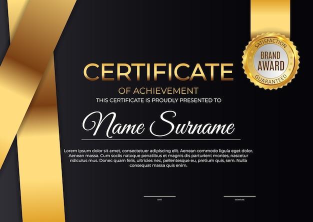 Certificato, sfondo modello diploma. Vettore Premium