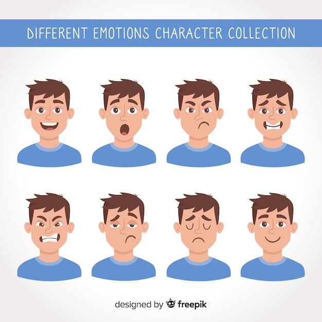 Carattere che mostra le emozioni Vettore Premium