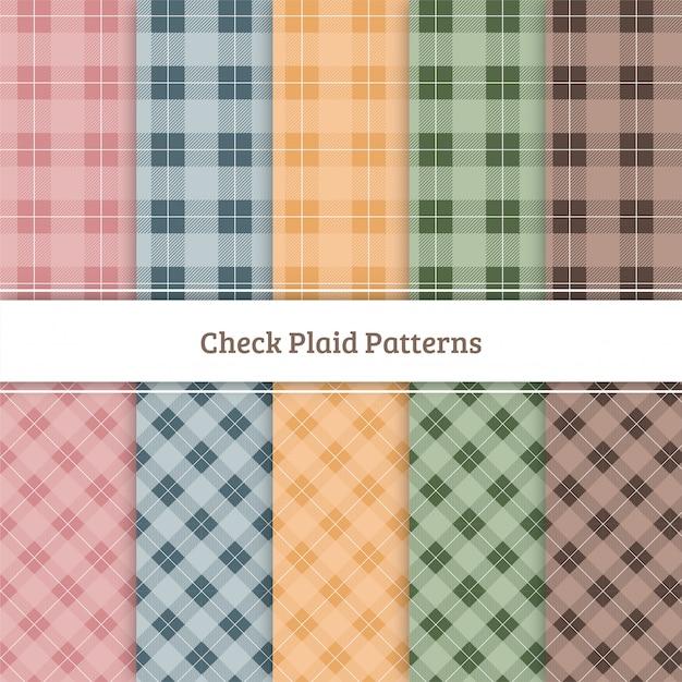 Controlla pattern plaid Vettore Premium