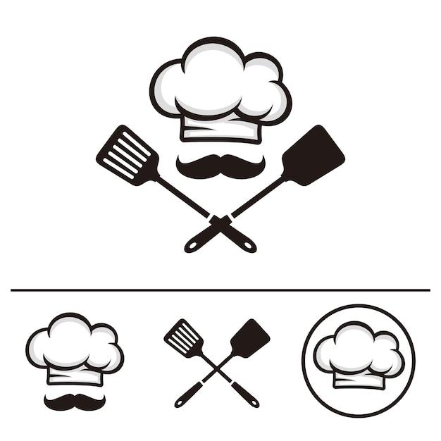 Modello logo chef Vettore Premium
