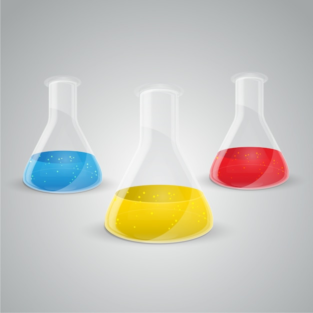Boccetta chimica icona vettoriale. Vettore Premium
