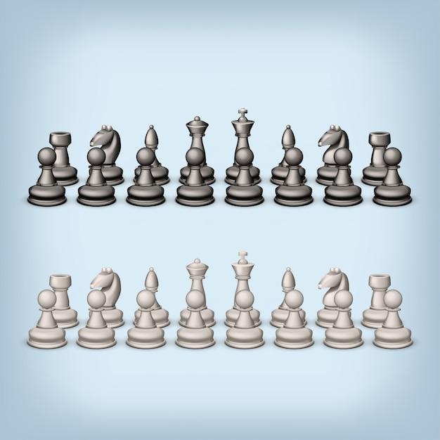 Set di scacchi Vettore Premium