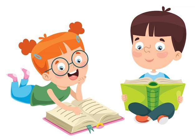 Educazione dei bambini Vettore Premium