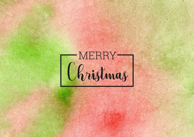 Natale abustract sfondo acquerello verde e rosso Vettore Premium