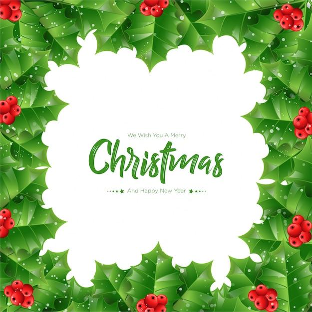 Natale di rami di abete sfondo Vettore Premium