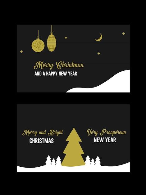 Cartolina d'auguri dell'invito di natale e di desideri di festa Vettore Premium