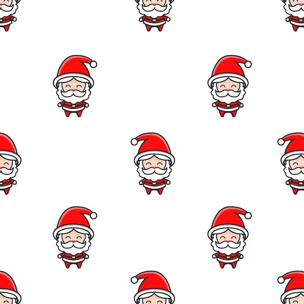 Motivo natalizio con babbo natale Vettore Premium