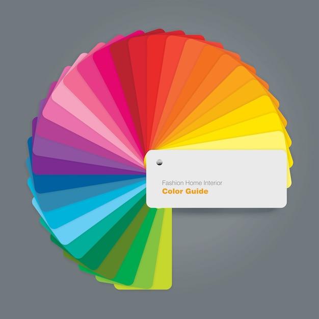 Guida circolare alla tavolozza dei colori per l'interior designer di moda Vettore Premium