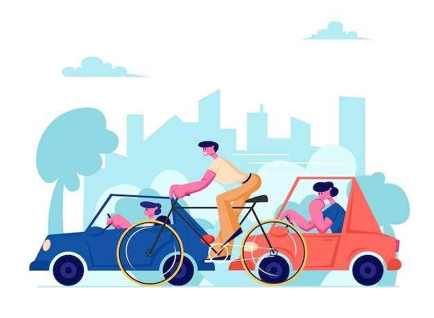 City life traffic Vettore Premium