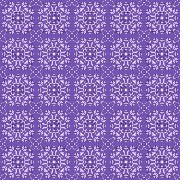 Fondo senza cuciture classico batik. carta da parati lussuosa con mandala a foglia elegante motivo floreale tradizionale Vettore Premium