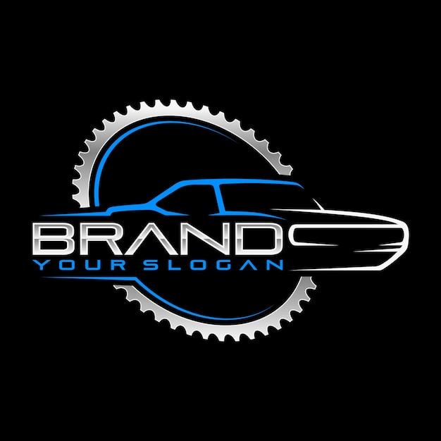 Logo garage classico Vettore Premium