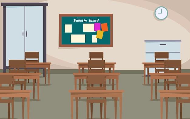 Sfondo ambiente studentesco classrom Vettore Premium