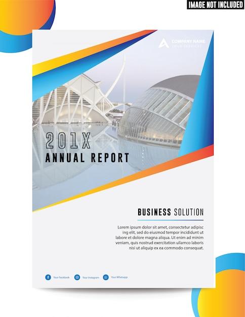 Rapporto annuale di clean business corporate Vettore Premium