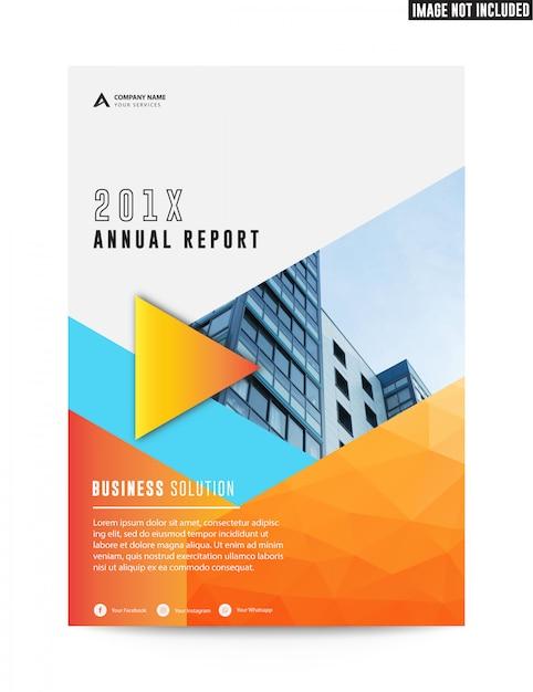 Pulisca il rapporto annuale dell'aletta di filatoio di affari corporativi piani di affari Vettore Premium