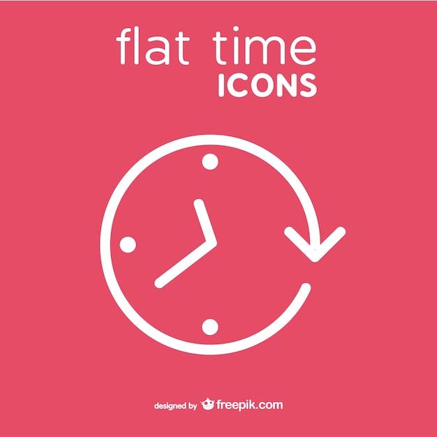 Icona di vettore di clock stile piatto Vettore Premium