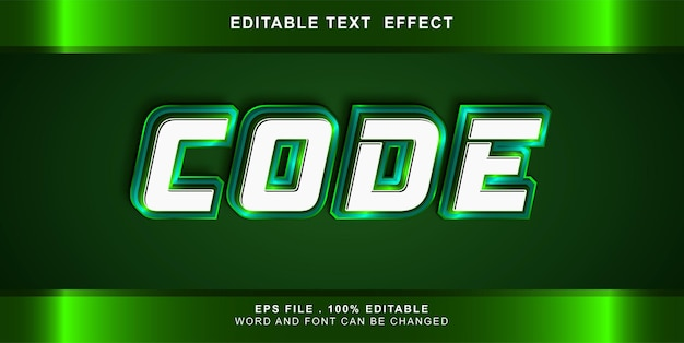 Codice effetto testo modificabile Vettore Premium