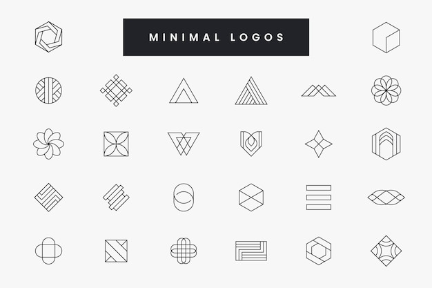 Raccolta di logo minimale Vettore Premium