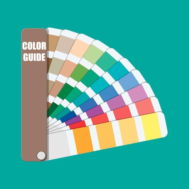 Campione di colore. guida alla tavolozza dei colori. Vettore Premium