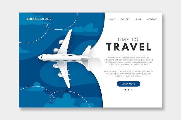 Colore del modello della pagina di destinazione del viaggio dell'anno 2020 Vettore Premium