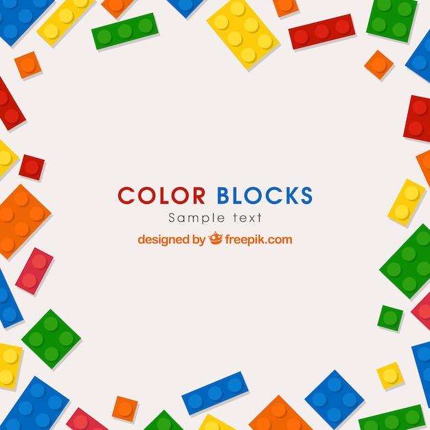 Sfondo di mattoni colorati Vettore Premium