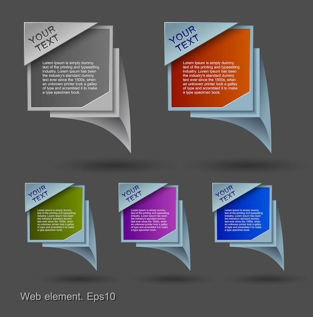 Bolle colorate, elemento web design Vettore Premium