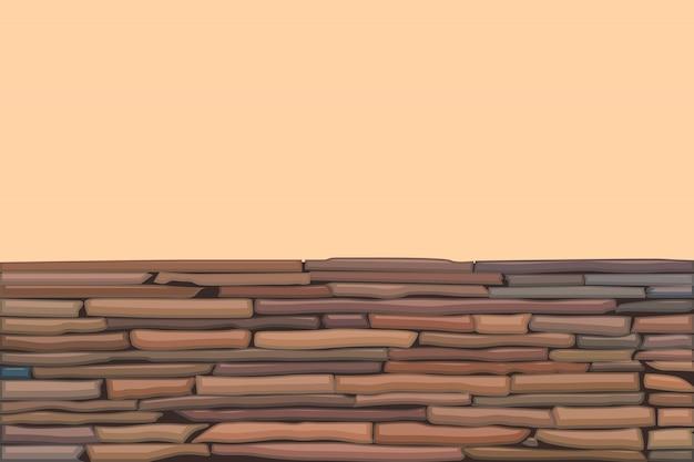 Muro di pietra colorata Vettore Premium