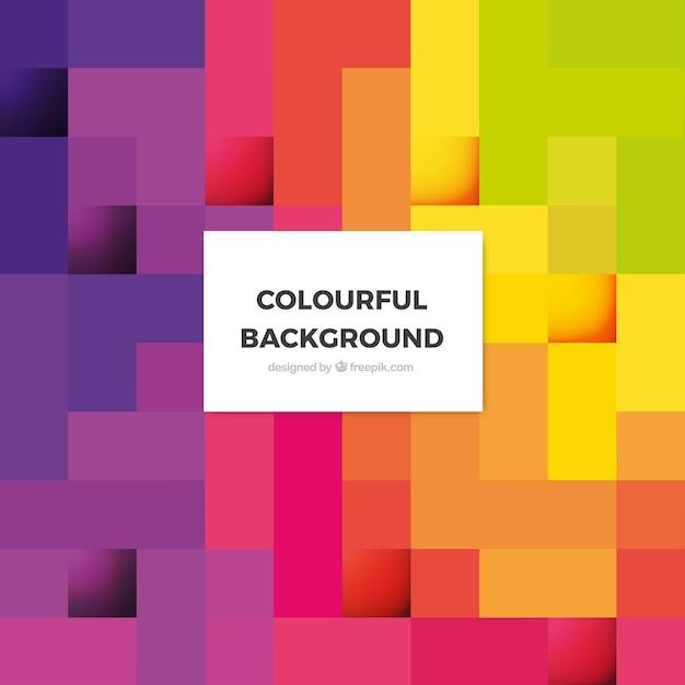 Sfondo astratto colorato Vettore Premium