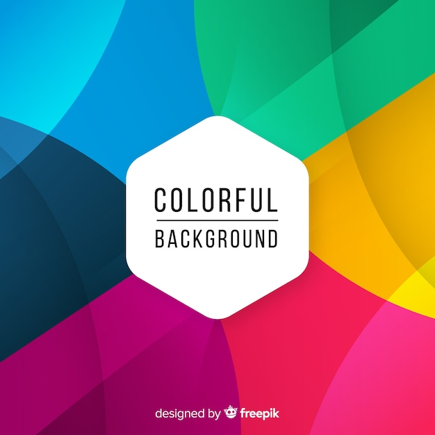 Sfondo colorato con forme astratte Vettore Premium