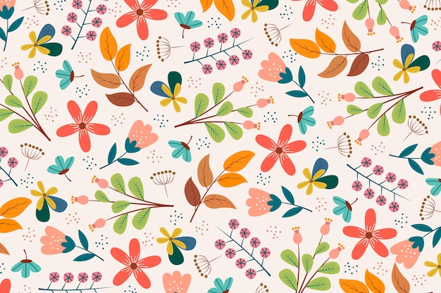 Sfondo colorato stampa floreale ditsy Vettore Premium