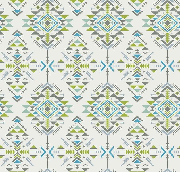 Modello senza cuciture etnico colorato con forme geometriche Vettore Premium