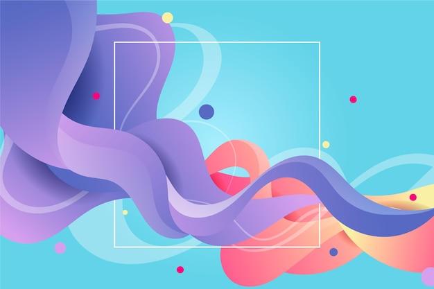 Sfondo colorato flusso Vettore Premium