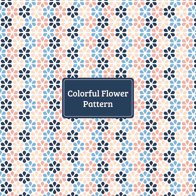 Motivo floreale colorato Vettore Premium