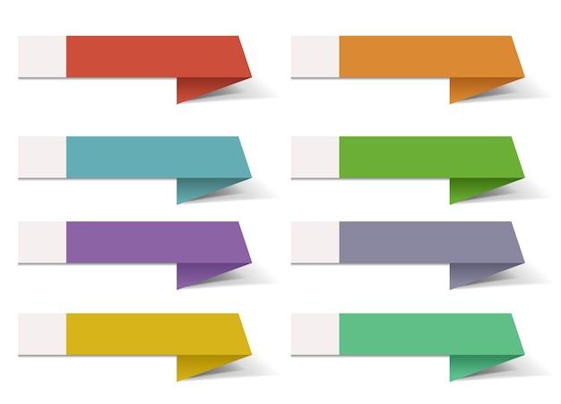 Nastro colorato modello di banner infografica Vettore Premium