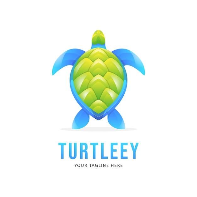 Illustrazione del logo tartaruga colorata Vettore Premium